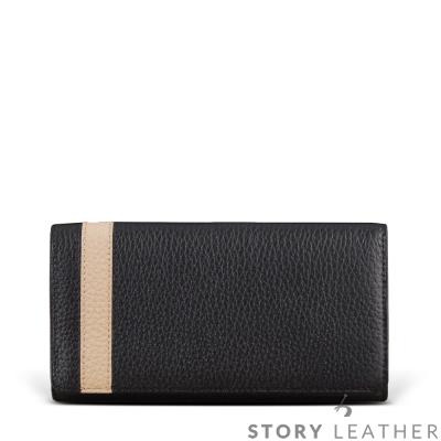 STORYLEATHER Note 8 橫式摺邊拼皮客製皮套