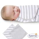 美國 Summer Infant 嬰兒包巾, 純棉 S-2入 - 法式灰時尚