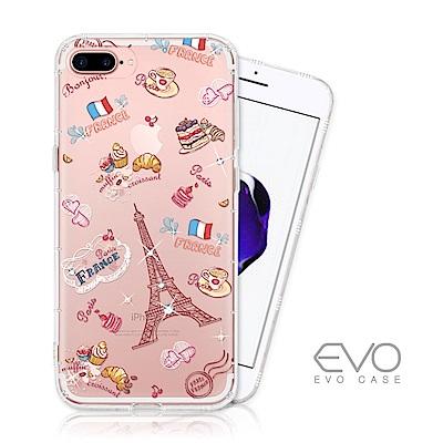 EVO CASE iPhone 7/8 Plus 奧地利水鑽殼 - 甜點巴黎