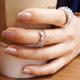 【N.C21】亮眼甜美love字母戒指 (銀