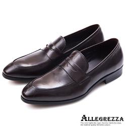 ALLEGREZZA‧經典玩味義式小牛皮革皮鞋  深咖啡色