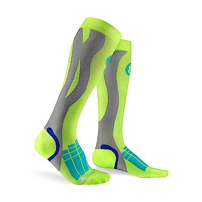 【Titan】太肯壓力運動襪 Elite_螢光黃/淺灰(適合慢跑、自行車、球類運動)
