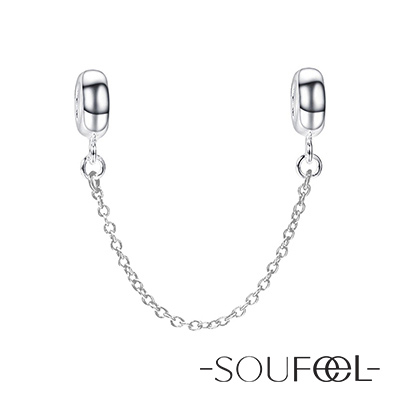 SOUFEEL索菲爾 925純銀珠飾 安全鍊 A