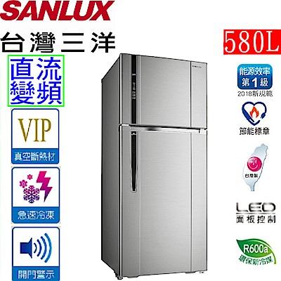 SANLUX 台灣三洋 580公升直流變頻雙門冰箱 SR-C580BV1