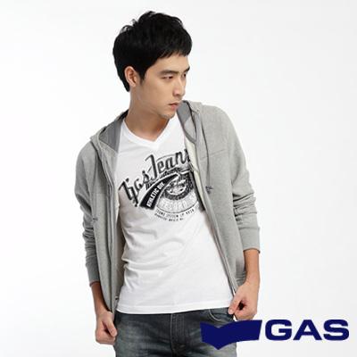 GAS-簡約低調-素面附帽休閒外套-灰-男款