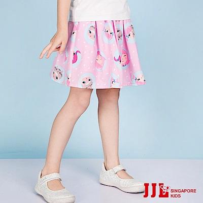 JJLKIDS 派對女孩鬆緊飄逸舒適短裙(粉紅)