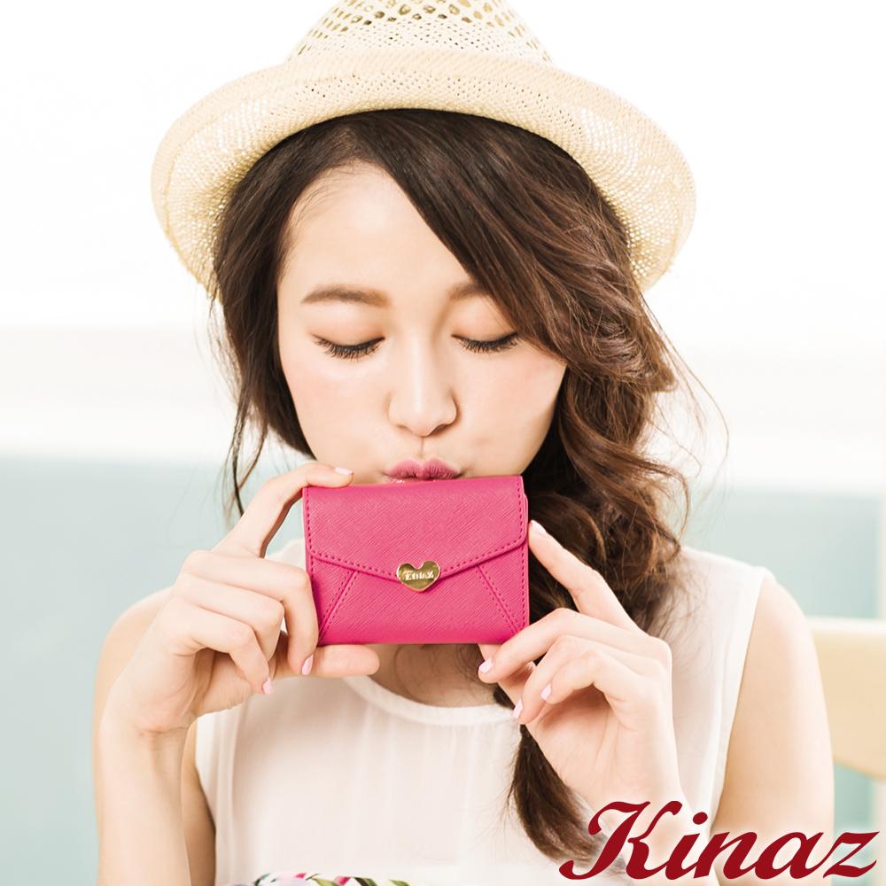 KINAZ - 最愛愛麗絲系列~戀愛童話信封卡片夾-薔薇粉