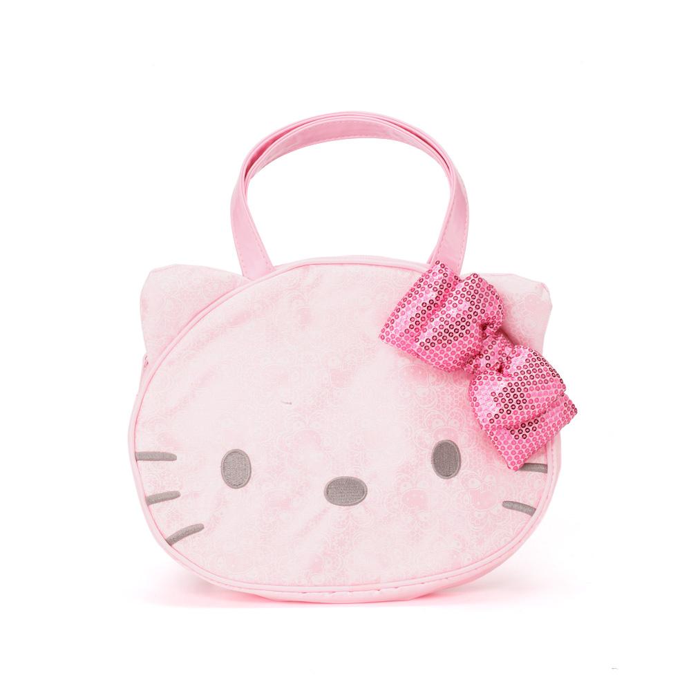 Sanrio HELLO KITTY大臉造型手提袋S典雅蕾絲