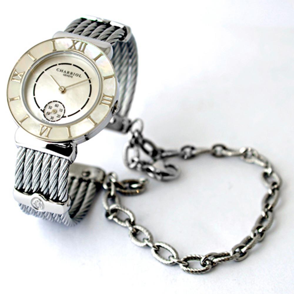 CHARRIOL 夏利豪鎖鍊系列貝圈羅馬數字腕錶