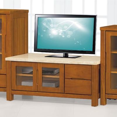 品家居-巴比4尺石面長櫃-電視櫃-121x50x5