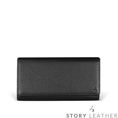 STORYLEATHER Note 8 橫式腰掛 荔枝紋黑 現貨皮套