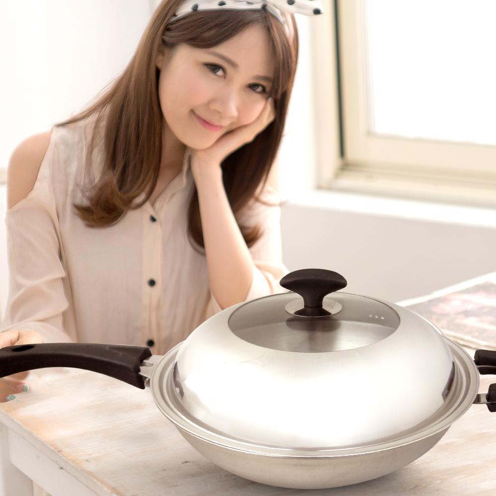 清水 透視七層複合金炒鍋42CM(雙耳款)