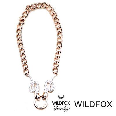 Wildfox Couture 美國品牌 古典蛇項鍊 玫瑰金蛇項鍊