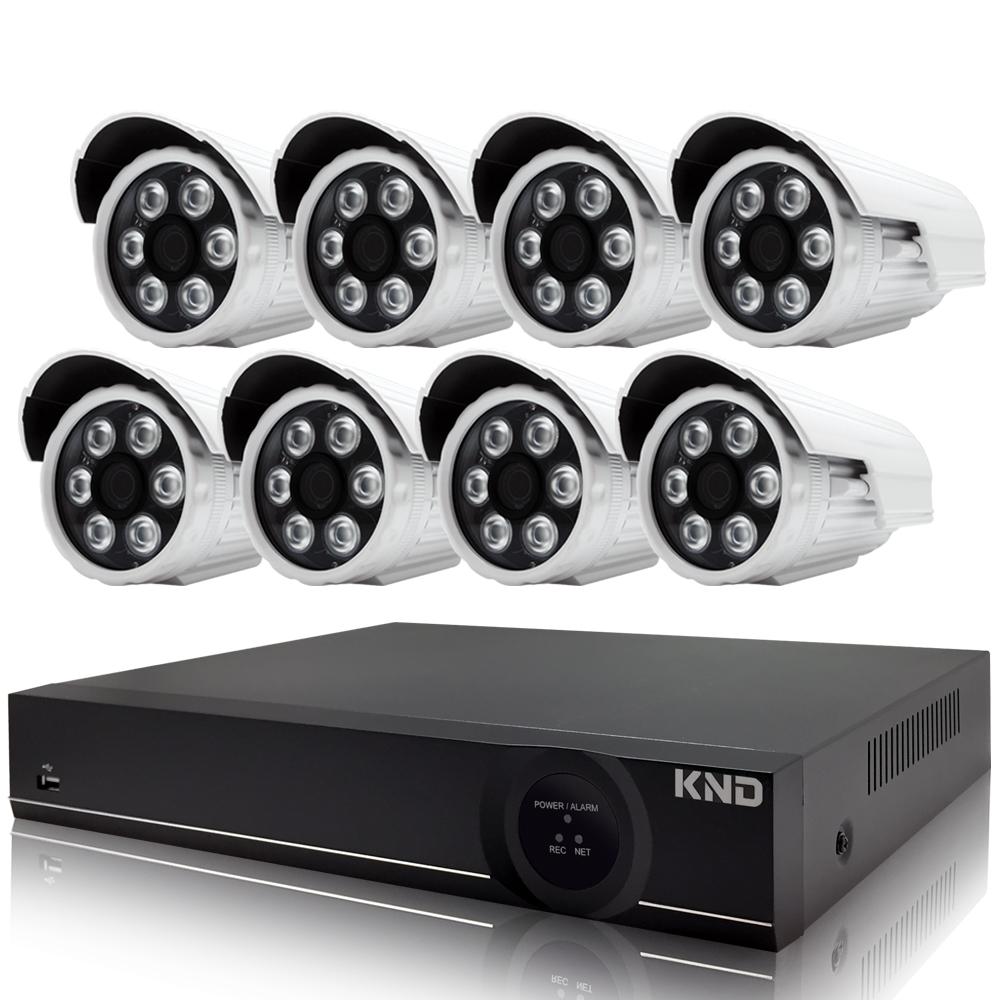 奇巧 8路AHD正1080P台製雙硬碟款主機-含SONY 200萬攝影機x8