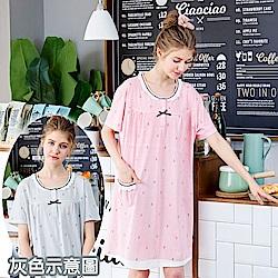 睡衣 海軍風蕾絲條紋連身睡衣(R75027-6灰條紋) 蕾妮塔塔