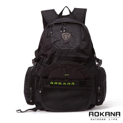 AOKANA奧卡納 台灣釦具 護脊紓壓電腦後背包 可收納籃球(綠標)68-069