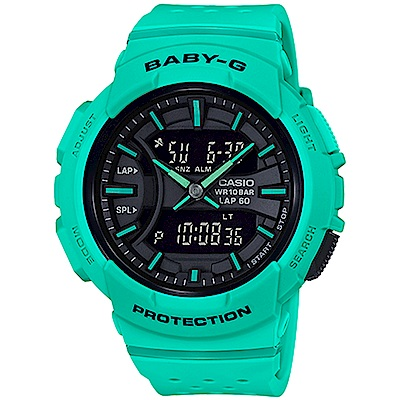 BABY-G 慢跑運動計時腕錶(BGA-240-3A)綠/42.6mm
