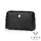VOVA - 凱旋II系列IV紋拉鍊零錢包 - 摩登黑
