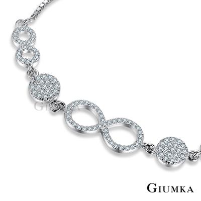 GIUMKA 純銀手鍊 永恆真愛925純銀-銀色
