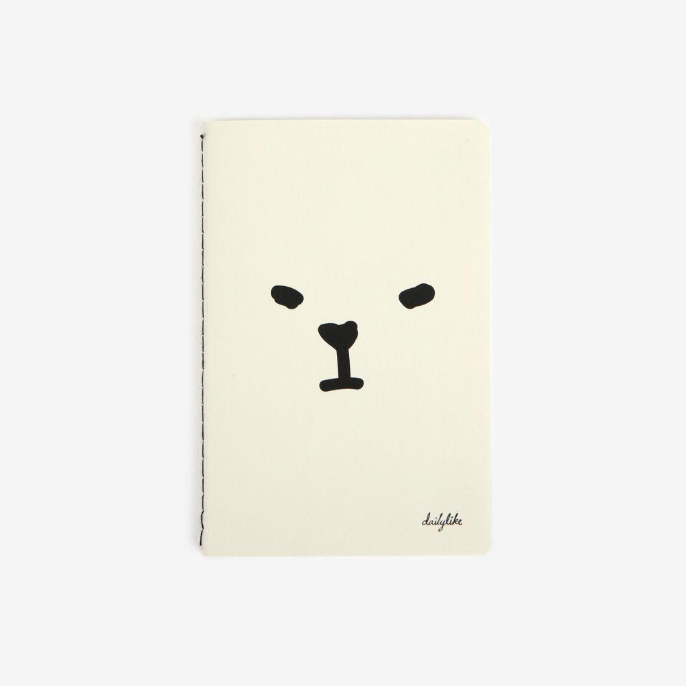 Dailylike隨手記事空白口袋筆記本-01白熊