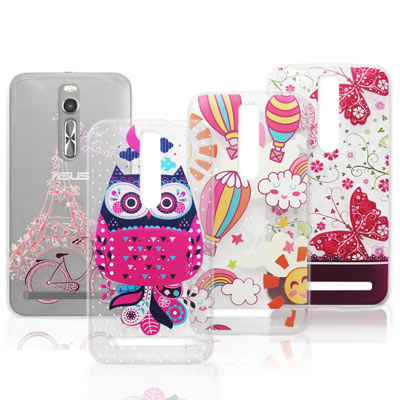 VXTRA 華碩 ZenFone 2 5.5吋 法式浪漫 彩繪軟式手機殼