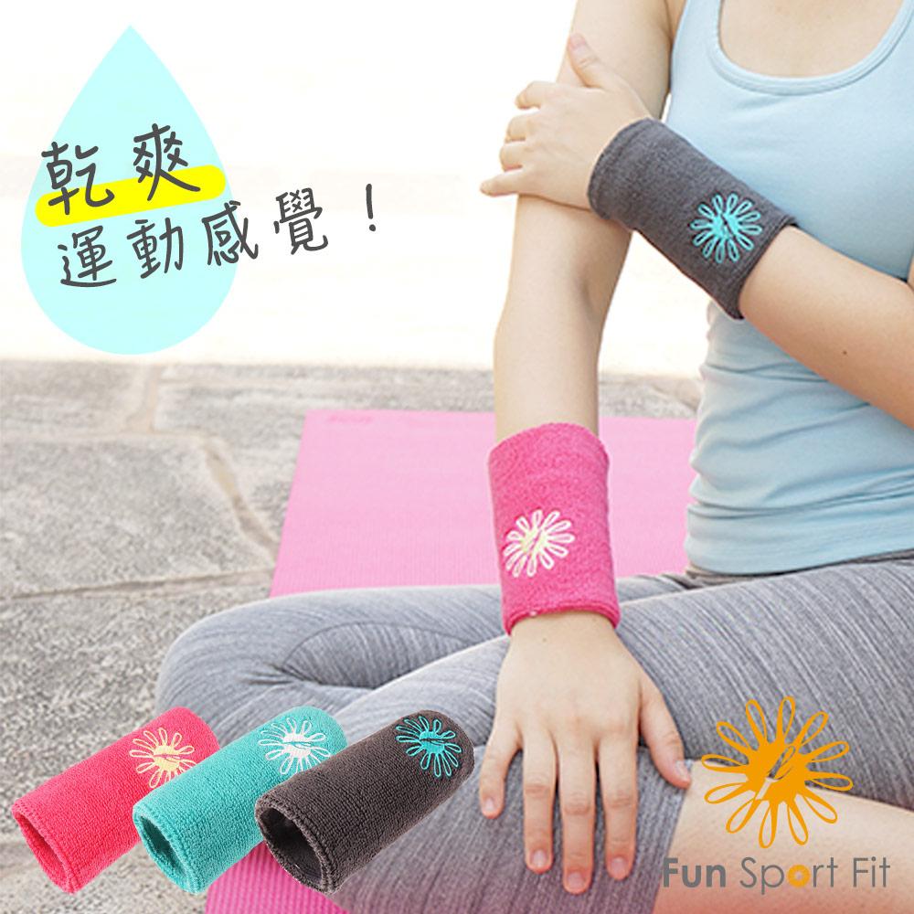 Fun Sport fit 艾力兒運動護腕-長版吸汗款-2入 @ Y!購物