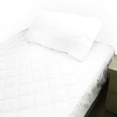 bedtime story 舒適繽紛彩虹保潔墊-純白-雙人5尺平單式