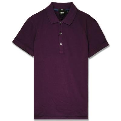 HUGO BOSS 黑標素面POLO男衫(深紫)