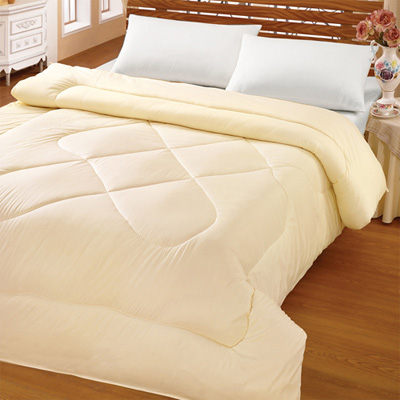 【原色布屋】雙人天然純淨羊毛冬被6X7呎-米黃
