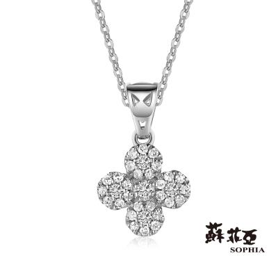 蘇菲亞SOPHIA 鑽鍊 - Yumi系列四 花朵造型鑽石項鍊(共兩色)