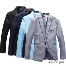 小猴子的賣場 韓系西裝外套質感紳士合身剪裁外套-4色