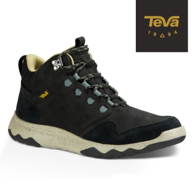 TEVA 美國-男 Arrowood Lux Mid 輕量防水機能休閒鞋 黑