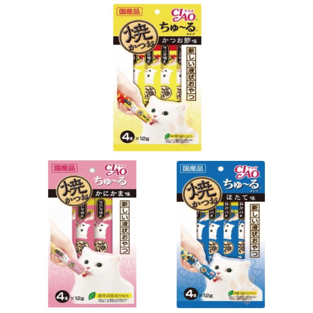 日本CIAO 啾嚕鰹魚燒肉泥12g*4