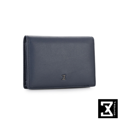 74盎司  Plain 系列平紋真皮名片夾[N-468]藍色