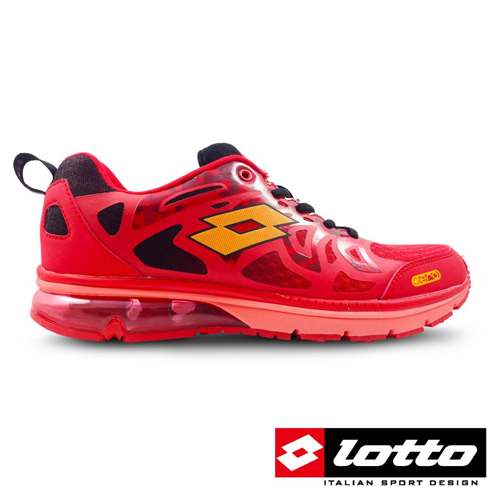 LOTTO 義大利 男 翼行者運動慢跑鞋 (紅火猴)