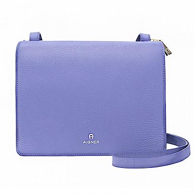AIGNER扁款簡約斜側背包-薰衣草紫