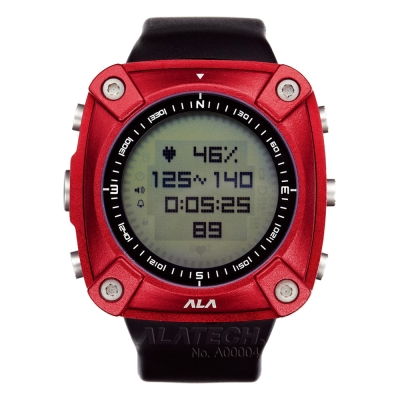 ALATECH 新版 OP100 專業 心率錶 登山錶 -紅色