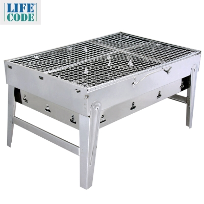 LIFECODE BBQ便攜式不鏽鋼折疊烤肉架/碳烤爐