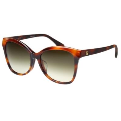 FENDI 時尚造型太陽眼鏡 (琥珀黑色)FF0043FS