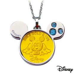 Disney迪士尼金飾 可愛天使米奇黃金/白鋼項鍊
