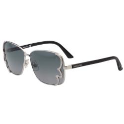 SWAROVSKI太陽眼鏡-水鑽造型方框-銀色-SW38