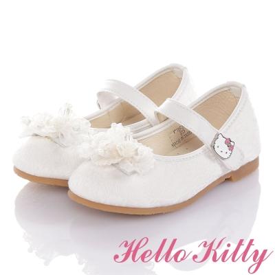 HelloKitty 氣質防滑公主娃娃童鞋-白