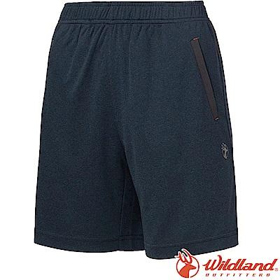 Wildland 荒野 0A61637-72深藍色 女雙色抗UV排汗短褲