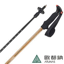 【ATUNAS 歐都納】LED三節登山杖(碳纖維/避震/登山款 NSA201C 金黃 )