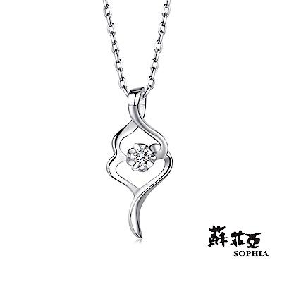 蘇菲亞SOPHIA 鑽石項鍊--sweet heart系列0.05克拉鑽鍊(共2色)
