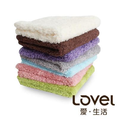 LOVEL 7倍強效吸水抗菌超細纖維方巾6入組(共9色)