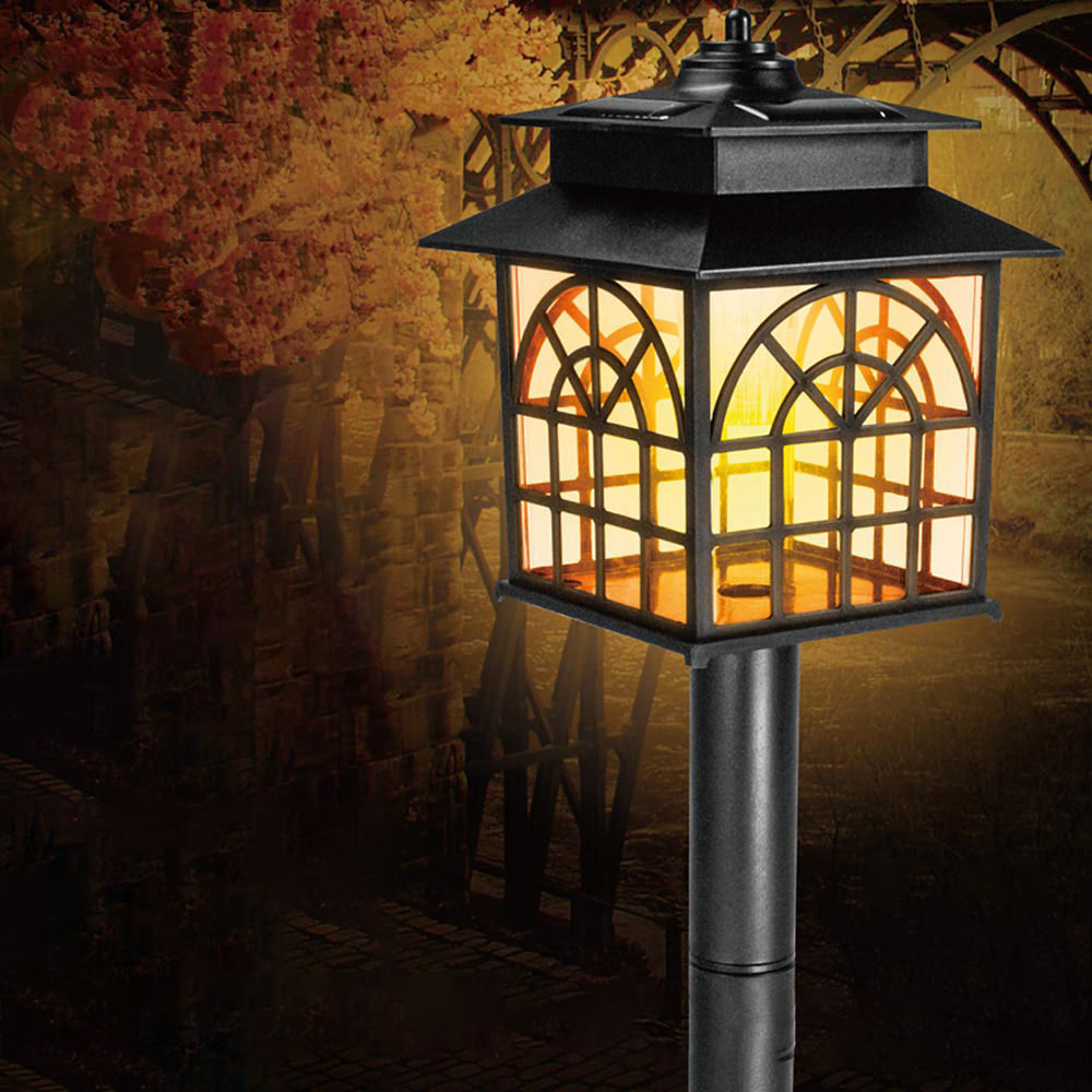 KINYO 太陽能LED庭園燈黃光(GL-6025)