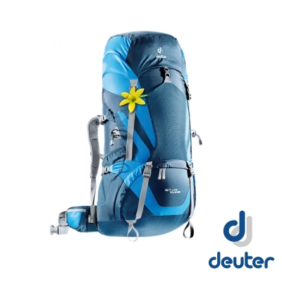 【德國 Deuter】女 Act Lite 70+10L拔熱透氣背包_深藍/藍