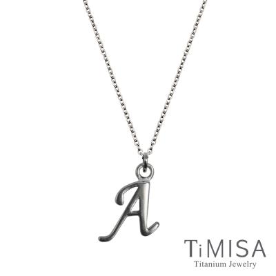 TiMISA 小字母(任選) 純鈦(極細鎖骨)項鍊B