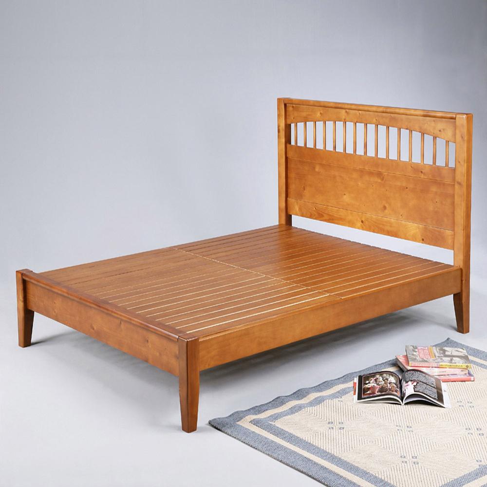 伊賀5尺實木大雙人床架